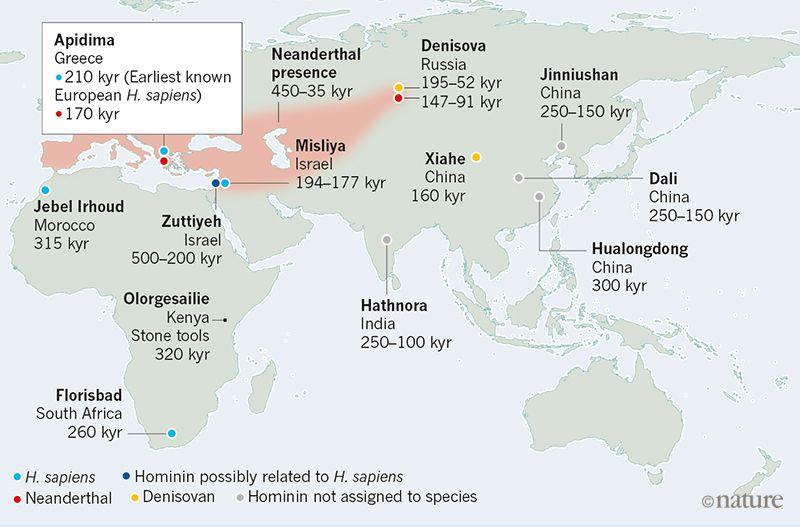 Homo Sapiens tempranos en Eurasia